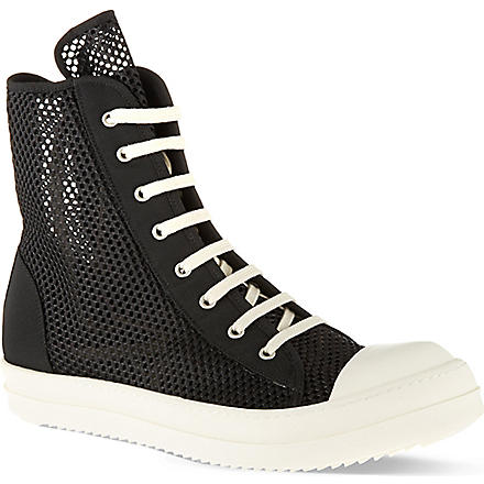 DRKSHDW Ramones net high tops (Black