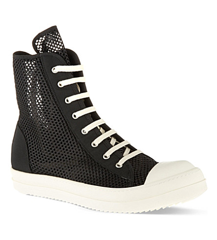 DRKSHDW Ramones net high tops (Black