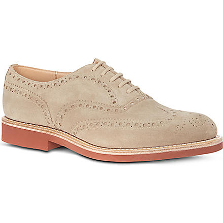 CHURCH Downton suede micro brogues (Beige