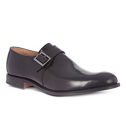 CHURCH Tokyo single-buckle monk shoes (Black
