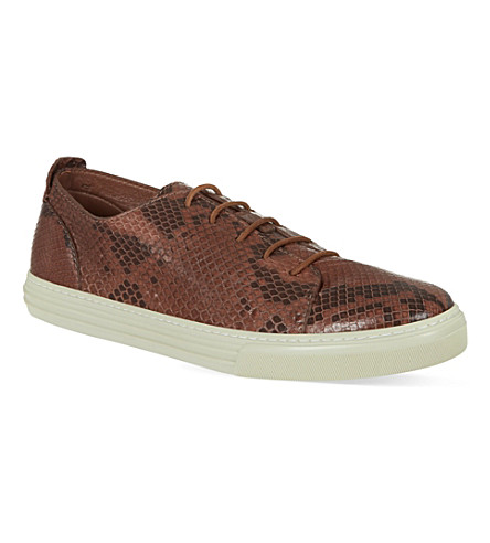GUCCI Show Jimy python trainers (Brown