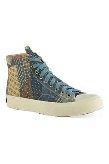 VISVIM Skagway patchwork high-top trainers