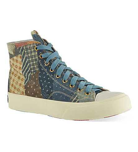 VISVIM Skagway patchwork high-top trainers (Mult/other