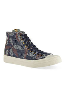 VISVIM Floral Skagway high-top trainers