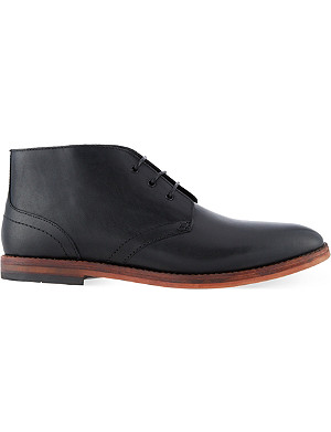 H BY HUDSON Houghton leather chukka boots