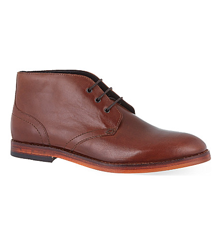 H BY HUDSON Houghton II leather chukka boots (Tan