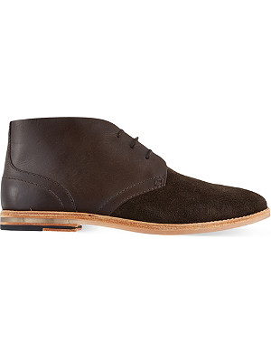 H BY HUDSON Houghton suede chukka boots