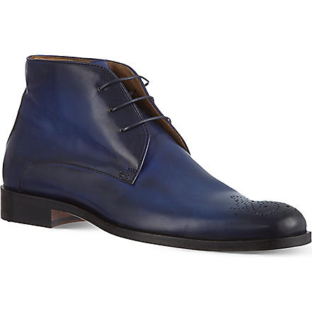 OLIVER SWEENEY Neceta perforated chukka boots (Blue