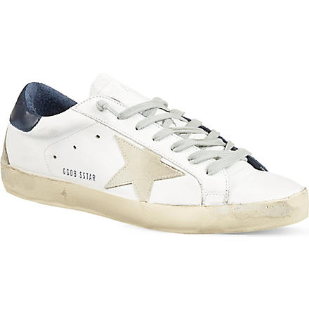 GOLDEN GOOSE Superstar trainers (White/navy