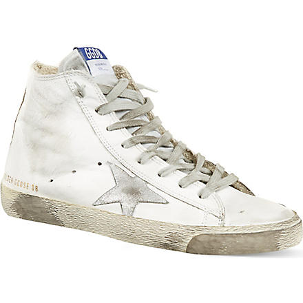 GOLDEN GOOSE Francy high-top trainers (White