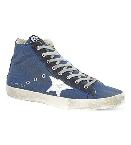 GOLDEN GOOSE Francy high tops (Navy