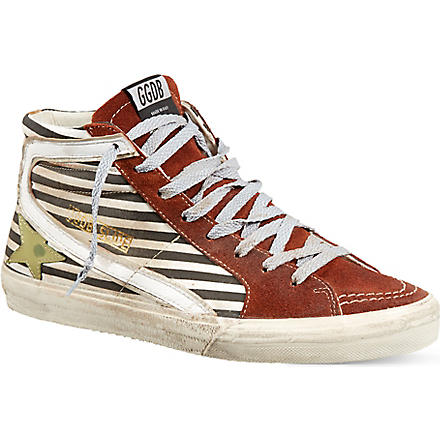 GOLDEN GOOSE Slide high-top trainers (Blk/white