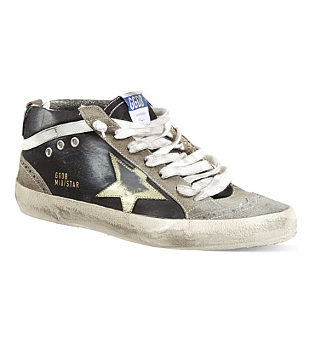 GOLDEN GOOSE Star high-top trainers (Blk/grey