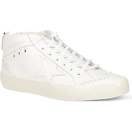 GOLDEN GOOSE Star high-top trainers (White