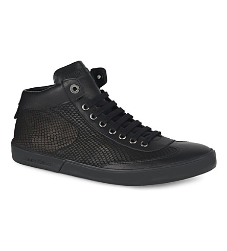 JIMMY CHOO Varley high-top trainers (Black