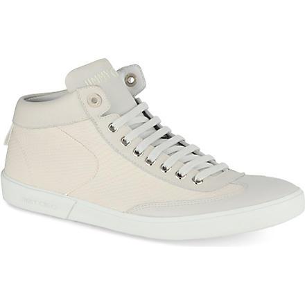 JIMMY CHOO Varley high-top trainers (White