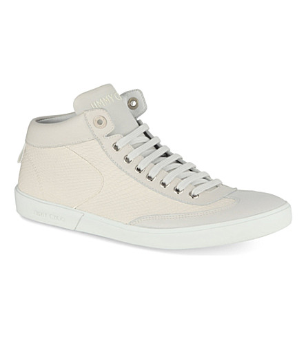 JIMMY CHOO Varley high-top trainers (White