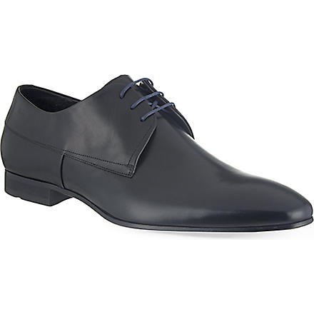 HUGO BOSS Modero plain derby shoes (Black