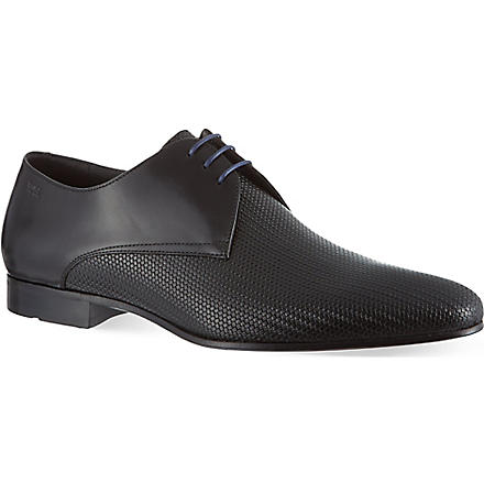 HUGO BOSS Monstio pattern derby shoes (Black