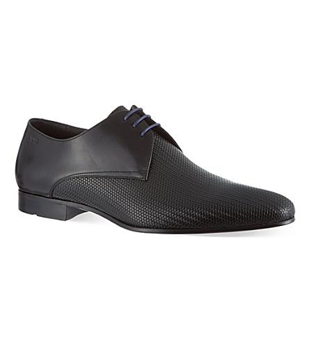 HUGO BOSS Monstio pattern derby shoes (Black