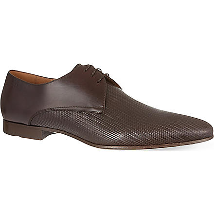 HUGO BOSS Monstio pattern derby shoes (Brown