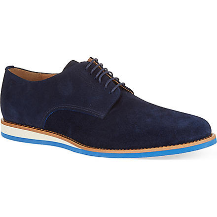 HUGO BOSS Casulo suede derby shoes (Navy