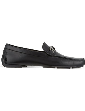 ERMENEGILDO ZEGNA Leather driving shoes