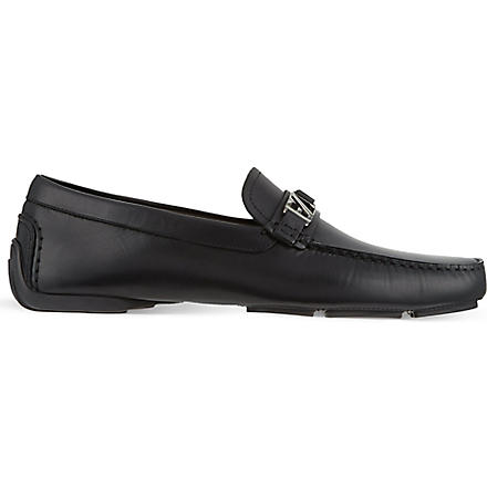 ERMENEGILDO ZEGNA Leather driving shoes (Black
