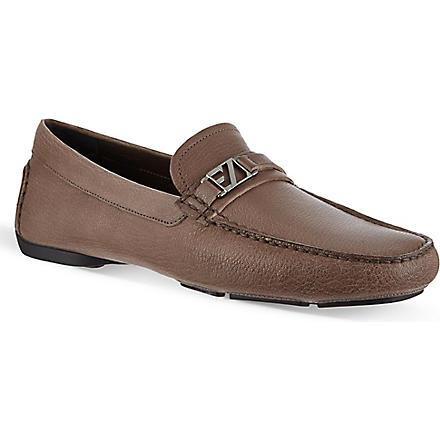 ERMENEGILDO ZEGNA City hamptons driver shoes (Grey
