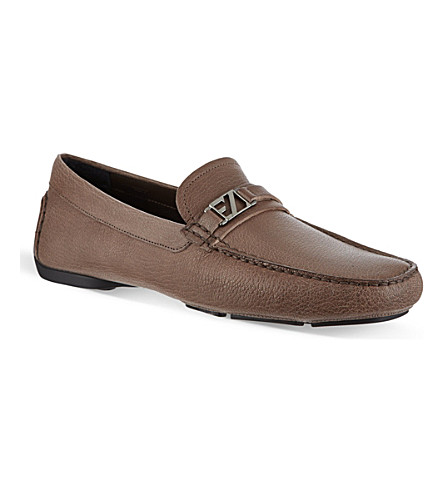 ERMENEGILDO ZEGNA City hamptons driver shoes (Grey