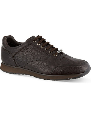 ERMENEGILDO ZEGNA Leather running trainers