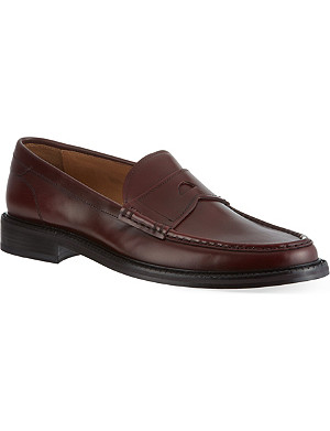 FACONNABLE Leather penny loafers