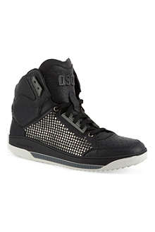 D SQUARED Leather hi-top trainers