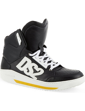 D SQUARED Studded high-top trainers
