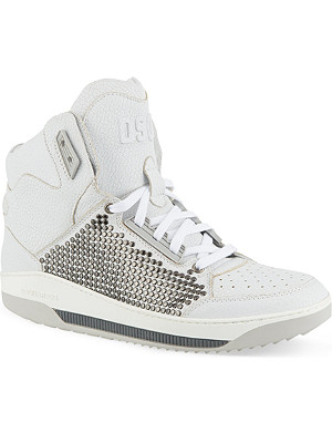 D SQUARED Studded hi-top trainers