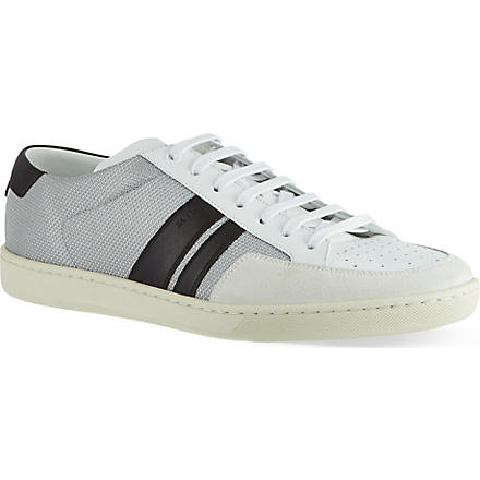 SAINT LAURENT Stripe Lo trainers (White/blk