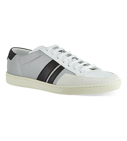 SAINT LAURENT Stripe Lo trainers (White/blk
