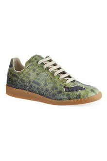 MAISON MARTIN MARGIELA Replica low-top snake embossed sneakers