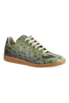MAISON MARTIN MARGIELA Replica low-top snake embossed sneakers