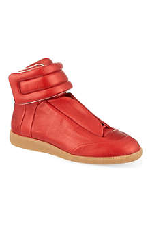 MAISON MARTIN MARGIELA Metallic Future hi-top sneakers