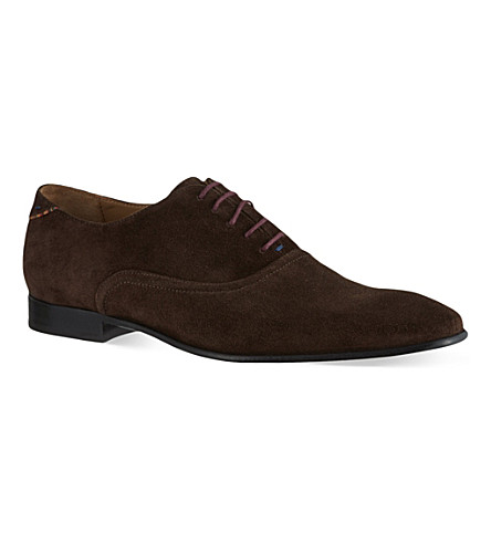 PAUL SMITH Starling plain suede Oxford shoes (Brown