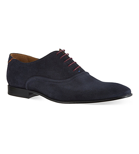 PAUL SMITH Starling plain suede Oxford shoes (Navy