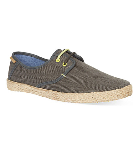 TED BAKER Drill laced espadrilles (Grey