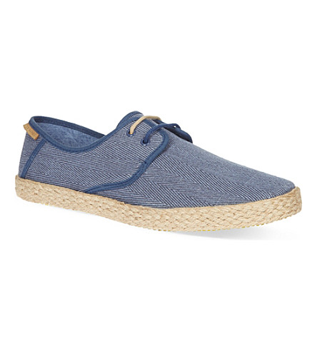 TED BAKER Drill laced espadrilles (Blue/dark