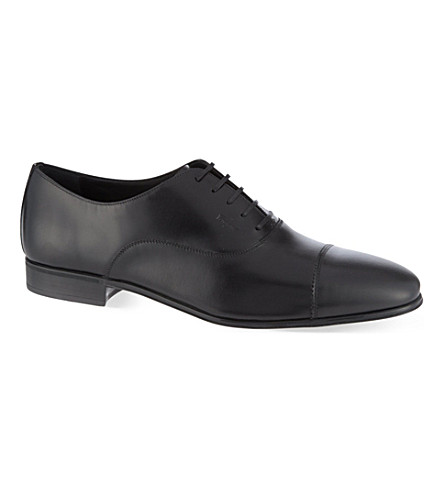 FERRAGAMO Remigio leather shoes (Black