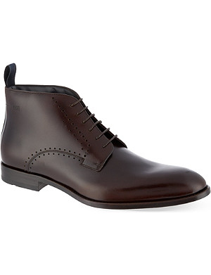 HUGO BOSS Perforated chukka boots