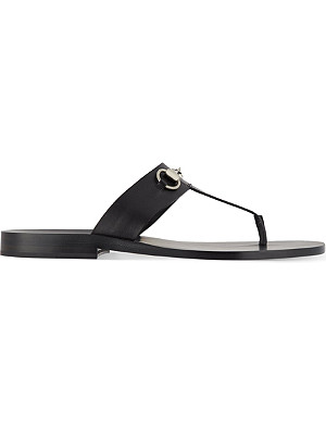 GUCCI Ben horsebit thonged sandal