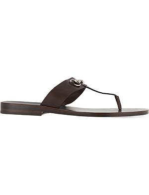 GUCCI Ben horsebit thong sandal