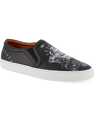 GIVENCHY Skate tattoo slip on trainers