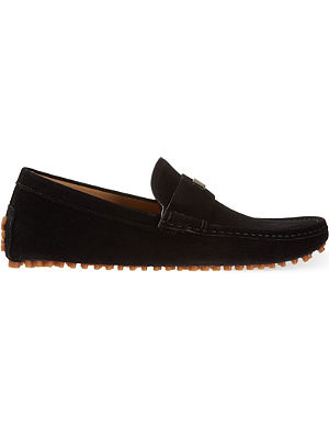 GUCCI Dylan logo shield loafers